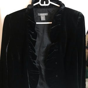 Ann Taylor black velvet jacket